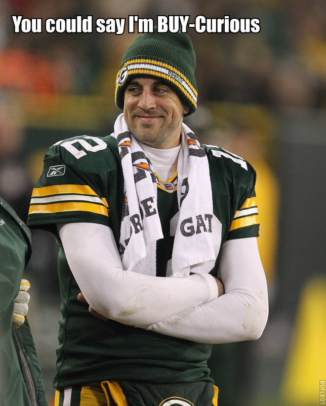 Aaron Rodgers is bicurious